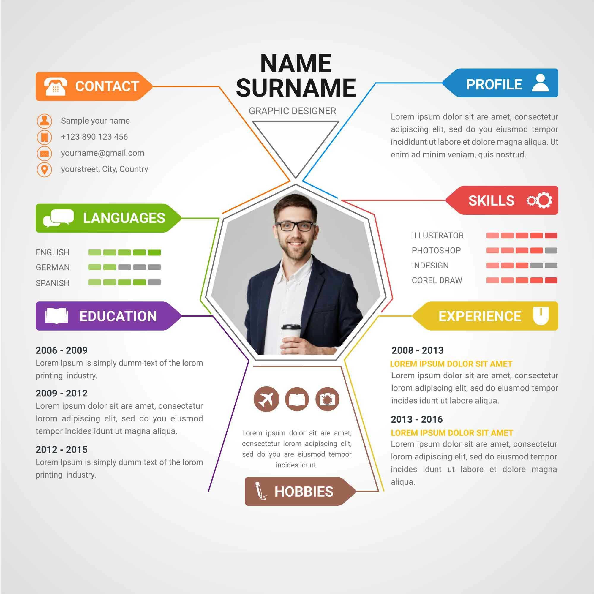 Info graphic Resume